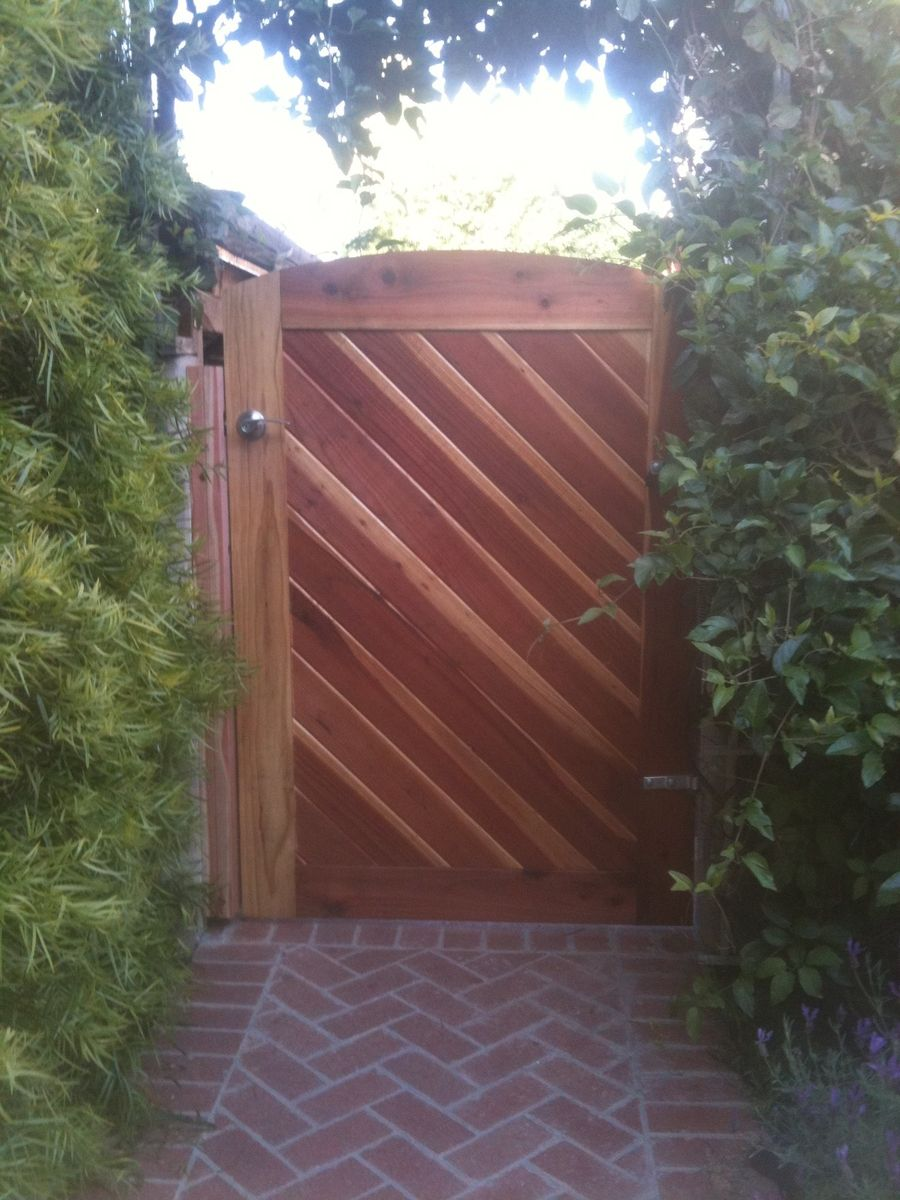 Hand Crafted Redwood Gate By Dagan Design Custommade Com