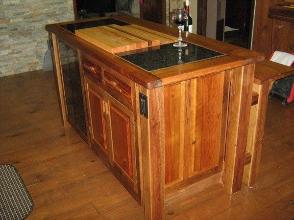 hand crafted kitchen island reclaimed old oak barn wood