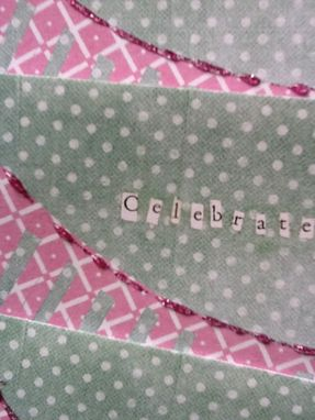 Custom Made Celebrate This Day Glittered Card Set