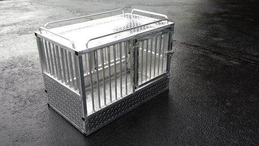 Custom Made Custom Aluminum K-9 Crate