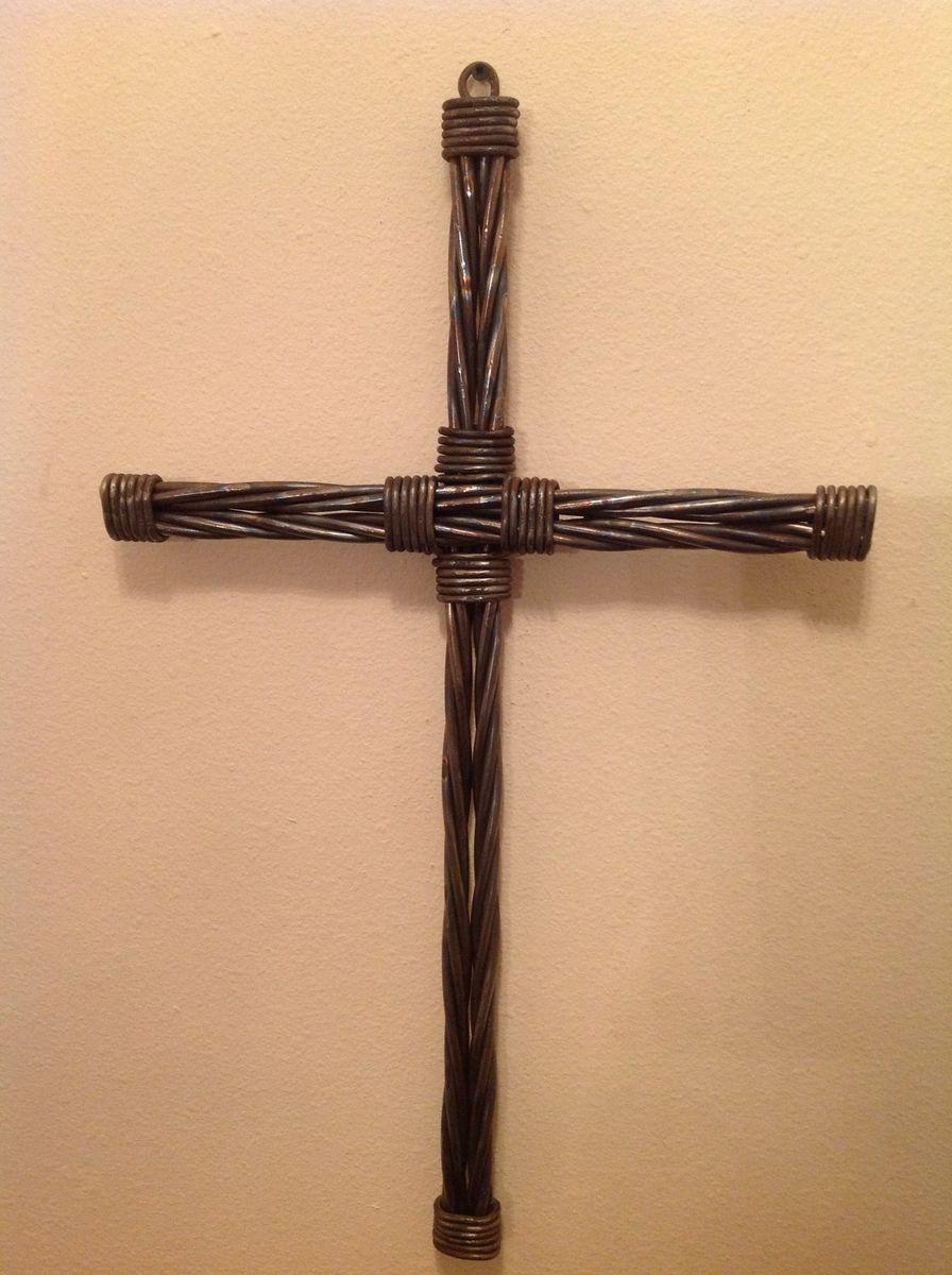 Custom Twisted Metal Rope Cross By Dakota Rustic Creations
