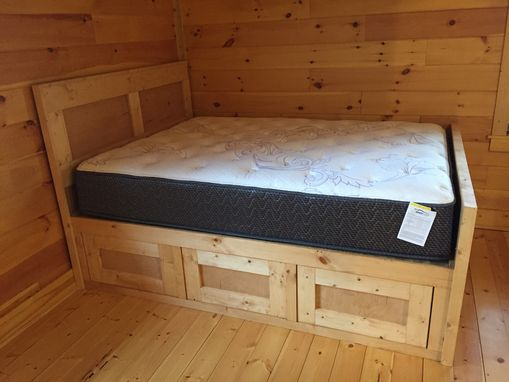 Custom Made Natural Pine Queen Bed