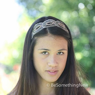 Custom Made Bohemian Beaded Tie Headband, Women Hair Accessories