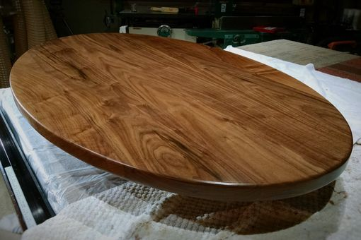 Custom Made Solid Walnut Oval Dining Table Or Desk Top