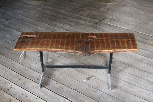 Custom Made Antique Chestnut And Arcade Game Bench Or Coffee Table