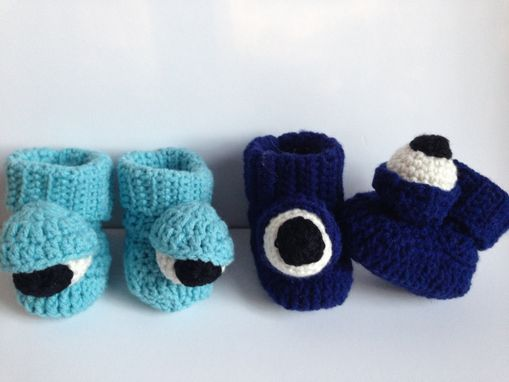 Custom Made Baby Monster Booties Pattern
