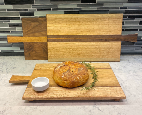 Custom Made Solid Wood Bread Board And Serving Boards