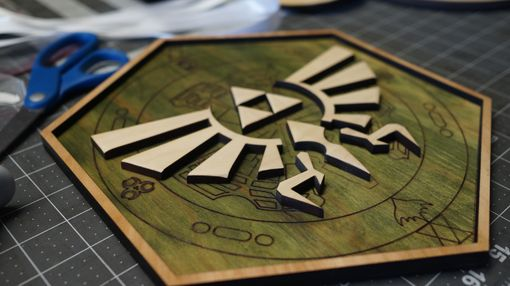 Custom Made Wooden Zelda Triforce