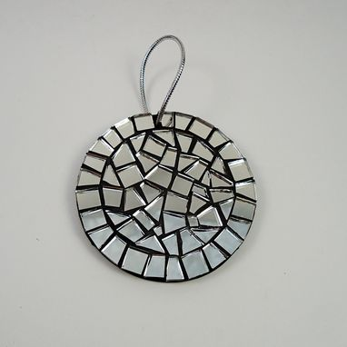 Custom Made Mirror Mosaic Holiday Ornament