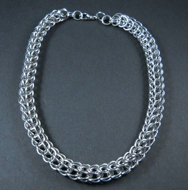 Custom Made Slithering Snake Chainmail Necklace