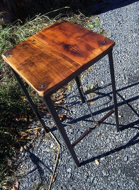 Buy Custom Made Urban Style Reclaimed Wood Bar Stools With