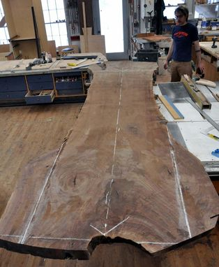 Custom Made A Claro Walnut Slab Dining Table