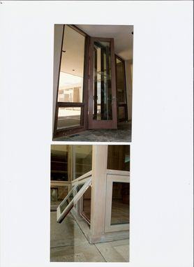 Custom Made Redwood Doors, Mating Screens And Awning Windows