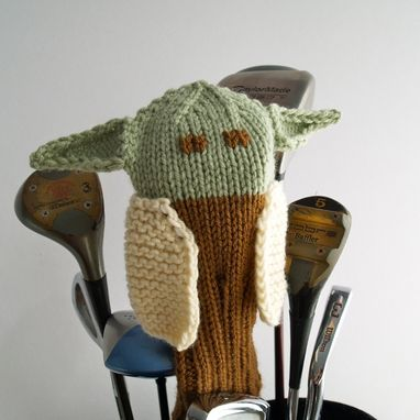 Custom Made Yoda Star Wars Knit Golf Club Cover