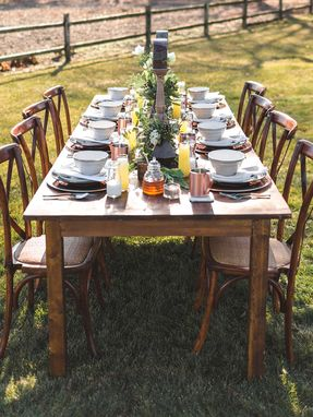 Custom Made 104' X 40' Handcrafted Farm Table  - Customizable