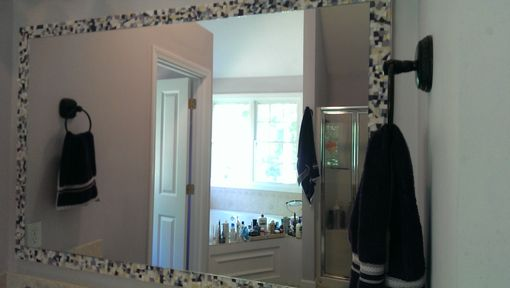 Custom Made Large Mosaic Bathroom Wall Mirror