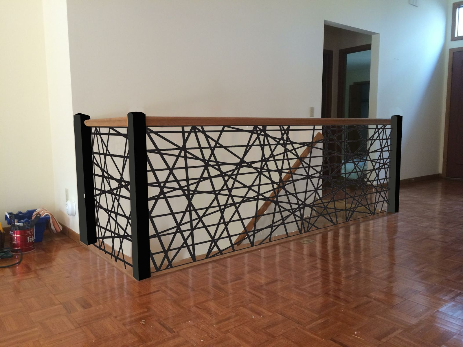 Custom Made Metal Stair Railings