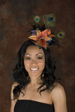 Custom Made Floral Butterfly Vintage Hat