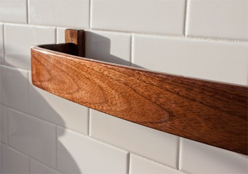 Custom Made Bentwood Towel Bar - Choice Of Size And Wood