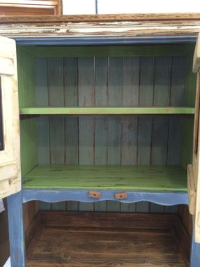 Custom Made Hutch W/Antique Grate Insets