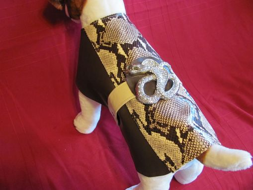 "Custom Made Python Belted ""Python"" And Leather Dog Coat."