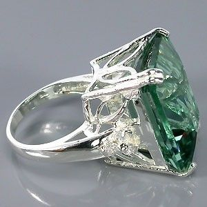Custom Made 14 Carat Aquamarine With Perfect Color And Cut
