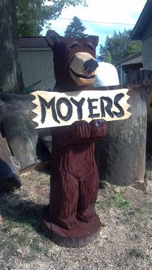 Custom Made Moyers' Chainsaw Carved Bear