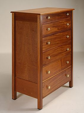 Custom Made Mahogany And Sapele Bedroom Furniture