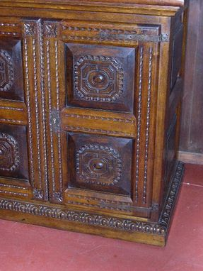 Custom Made Carved Two-Door Credenza