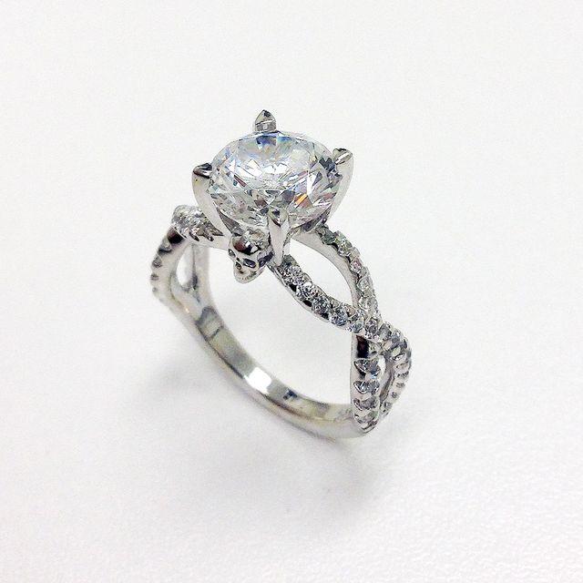handmade skull head engagement wedding ring by jewelryking design lab custommadecom - Mens Skull Wedding Rings