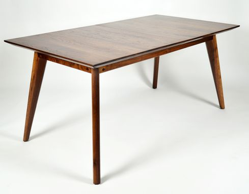 Custom Made Midcentury Inspired Walnut Dining Table