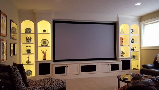 Custom Made Custom Maple Home Theater