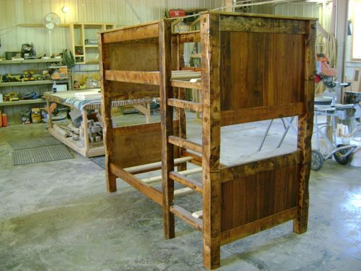 Custom Made Twin On Twin Reclaimed Barnwood Bunk Bed