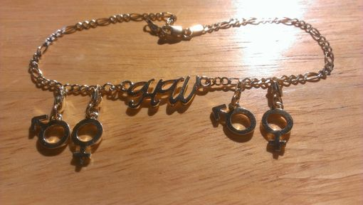 Custom Made Hotwife Anklet With Gender Symbol Charms