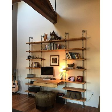 Custom Made Custom Industrial Shelving Unit W/ Galvanized Pipe