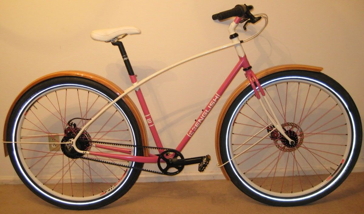 Hand Made Custom Made 29er Bike By Rob English With Wood Fenders