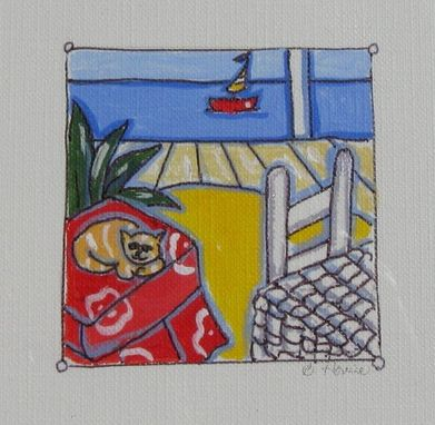Custom Made Beach Acrylic Paintings, Original Art On Canvas