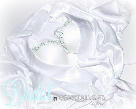 70afe33e2c ... Custom Made Crystallized Bling Bridal Wedding Night Push Up Bra  Victoria s Secret Made With Swarovski Crystals