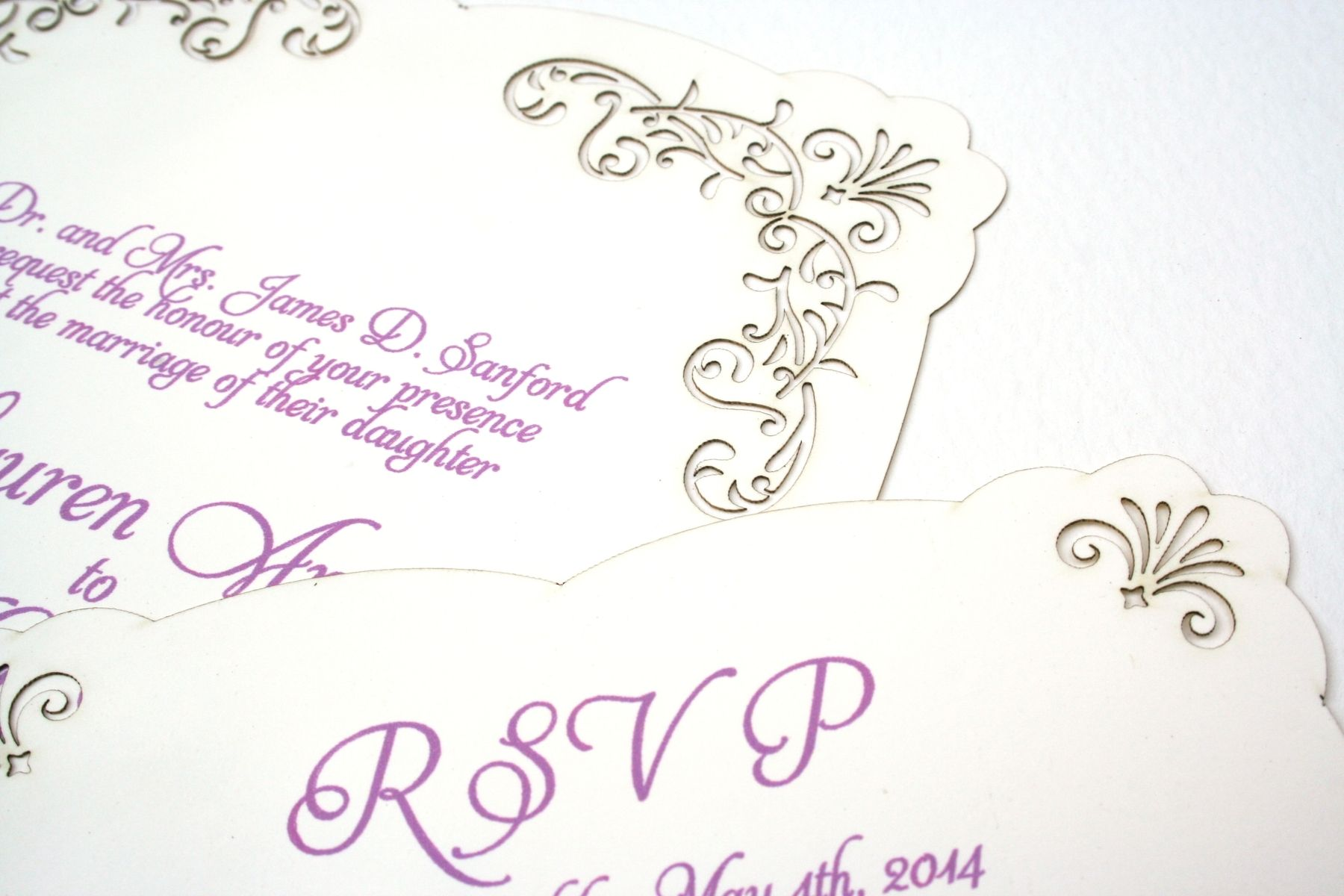 Handmade Laser Cut Lace Wedding Invitation, Romantic And Vintage ...