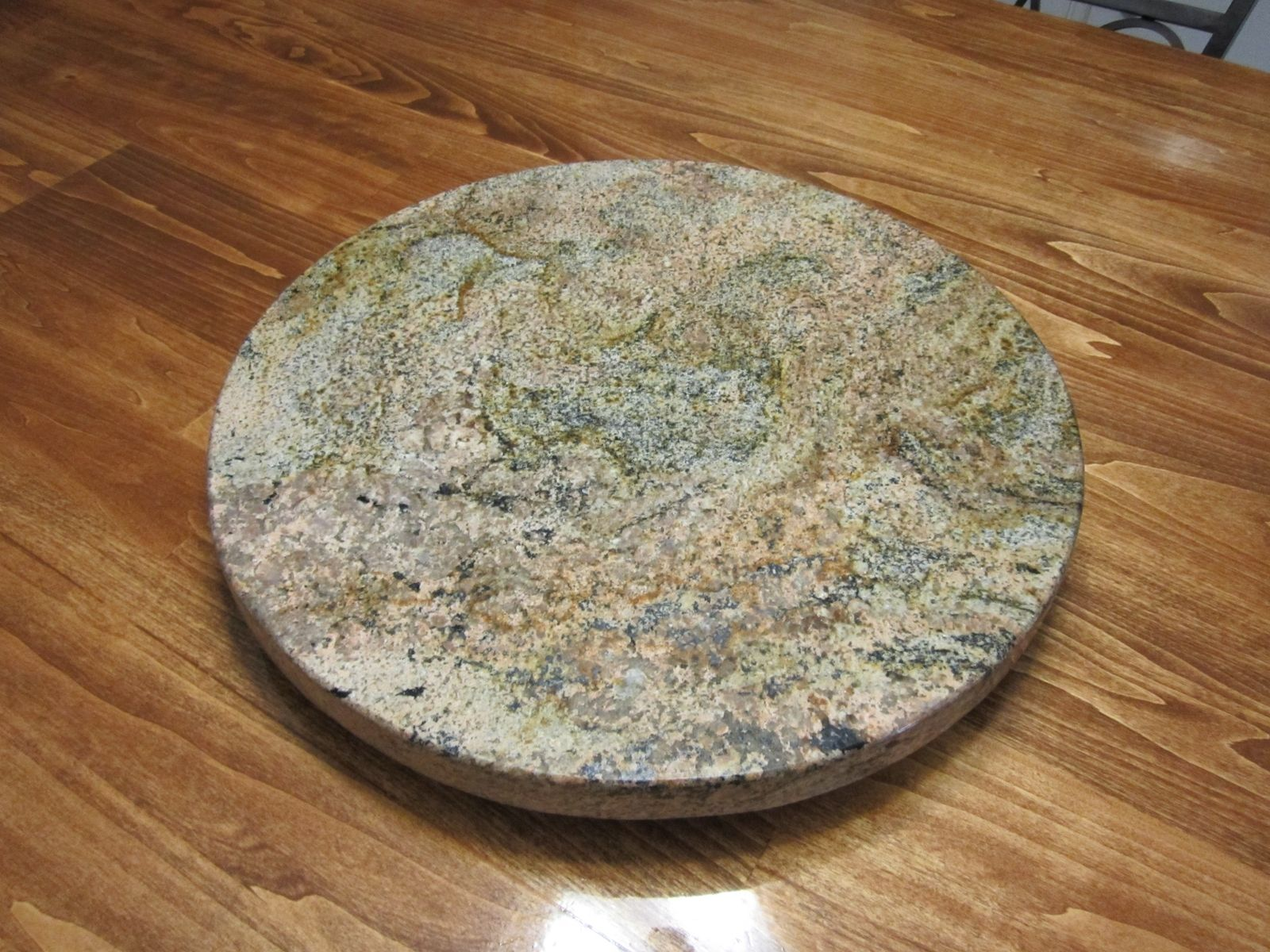 Hand Crafted Granite Lazy Susan By Impact Remodeling