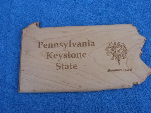 Custom Made Pennsylvania State Keystone Made From Maple
