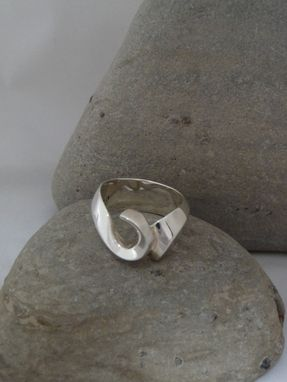 Custom Made Wedding/Engagement Sterling Silver Curl Design Ring