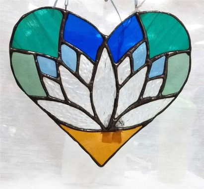 Custom Made Lotus Heart Stained Glass