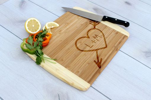 Custom Made Personalized Cutting Board, Engraved Cutting Board, Custom Wedding Gift – Cb-Bam-Heart Initials