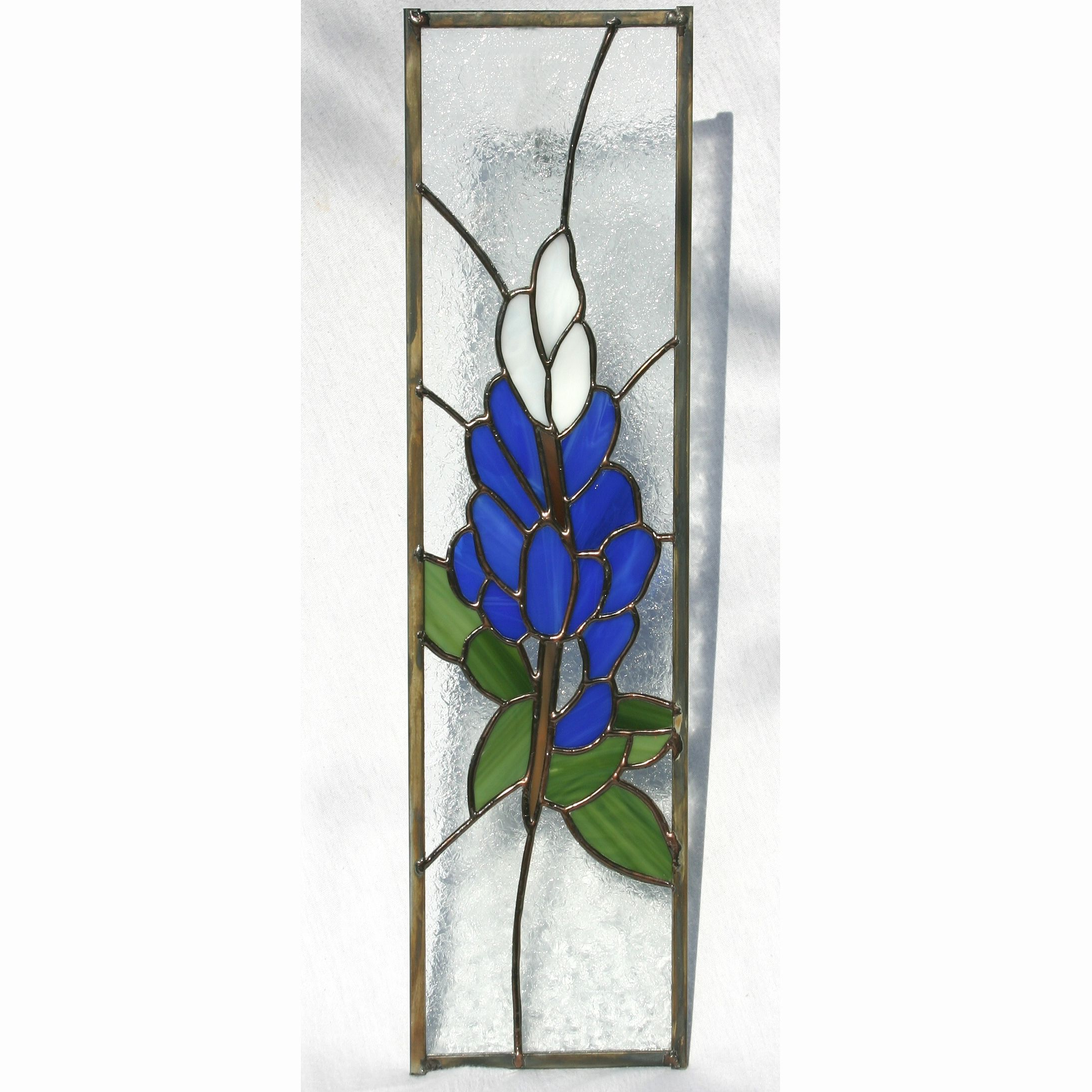 Blue Bonnet Stained Gl Panel Cabinet