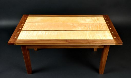 Buy A Custom Curly Maple And Black Walnut Coffee Table