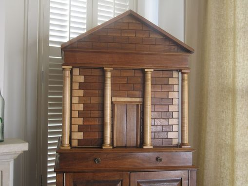 Custom Made Walnut Temple Cabinet