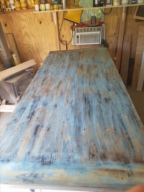 Custom Made Farmhouse Table, Distressed Finish