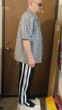 "Custom Made Ricky's Houndstooth Bowling Shirt - ""Trailer Park""- Any Size Available"