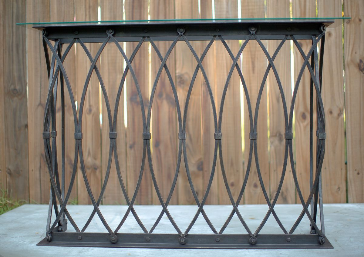 Buy a custom made gothic arch console table made to order from custom made gothic arch console table geotapseo Image collections